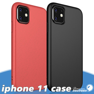 For iPhone 11 Pro XS XR X Max 6 7 Plus S20 se Wheat Straw Phone Case Cover TPU Protector Support Wireless Charging Matted texture