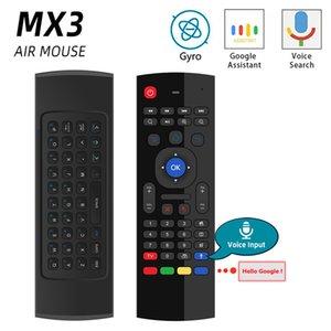 저렴한 원격 제어 안드로이드 TV 박스 H96에 대한 원격 제어 2.4G RF 무선 키보드 MX3 MX3-L 백라이트 에어 마우스 범용 스마트 음성