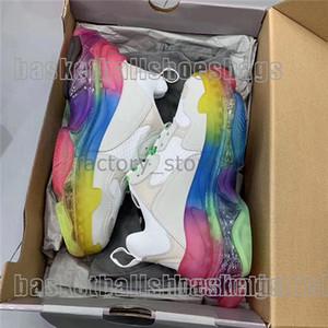 Paris New Crystal Bottom Triple-S Leisure Shoes роскошные Папины туфли Rainbow Triple S кроссовки для мужчин и женщин Vintage Kanye Old Grandpa Trainer