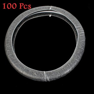 100Pcs New Clear White Plastic Disposable Truck Car Steering Wheel Covers Films