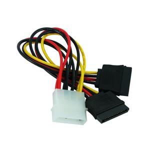 Cabos de computador Escritório Computador Connectors JONSNOW 4 Pin Molex Masculino Poder Dual ATA SATA 2 Feminino Y Splitter Cable