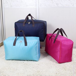 Edredón Bolsa de almacenamiento Ropa para el hogar Almohada Manta Bolsa de almacenamiento Organizador de equipaje de viaje Acabado portátil Oxford Cloth Dust Ba