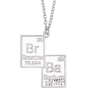 Bijoux Vintage Breaking Bad Collier Symbole chimique Br Ba Pendentif Brothers Couple Collier cadeau