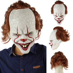 Stephen Kings Joker Maske Silikon Film Vollgesichts Horror Clown Latex Maske Halloween Party Masken Schreckliche Cosplay Prop TTA1789