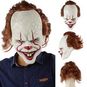 Stephen King's Joker Masque Film De Silicone Visage Complet Visage Horreur Clown Masque En Latex Halloween Partie Masques Horrible Cosplay Prop TTA1789