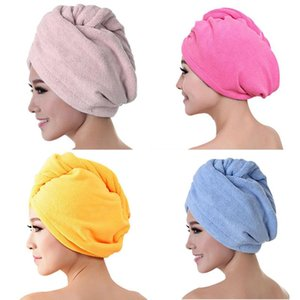 1pc Microfibre Shower Hair Drying Wrap Girls Women Lady's Towel Dry Hair Hat Caps Turban Head Face Wrap Bathroom Products Tools