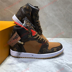Nike Air Jordan 1 x Louis Vuitton LV Femmes Hommes chaussures de sport Sports Basketball Fitness Training Tennis Courir baskets Flats chaussures Skate board Mocassins bottes