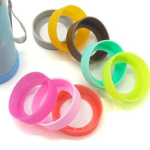 Vakum İzoleli Paslanmaz Çelik Travel Mug Su Şişe için Alt Koruyucu Kapak Kapak lastik Kupa Kol silikon bardak altlıkları