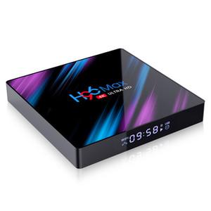 H96 MAX RK3318 Android 10 TV Kutusu 4k Quda Çekirdek 2.4G 5G WiFi Bluetooth4.0 Media Player Set Top Box 2GB 16GB
