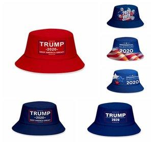 Donald Trump 2020 Fisherman Hat keep America Great Bucket Hats Summer Fashion Sunscreen Caps Party Hats Supplies RRA3136