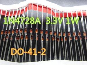 100pcs / lot New diodo 1N4728A 3.3V 1W DO41 no transporte free