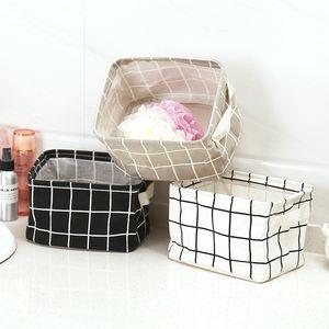Katlanabilir Sundries Depolama Bin Dolap Toy Box Konteyner Organizatör Kumaş bez Depolama Kozmetik masa Sepet Bags yıkama-standı FFA3734-1