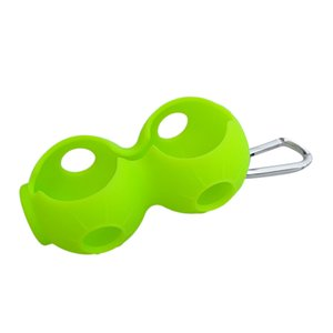 Portable Silicone Double Golf Ball Holders Storage Carrier w Clip for Golf Lovers Gift