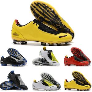 Nouvelle arrivée des hommes au total 90 Laser I SE FG Chaussures de football Top qualité Athlétique Jaune Noir Mode Crampons Livraison rapide 35-45