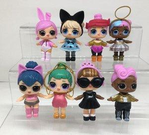8 models 9CM LoL Dolls with feeding bottle American PVC Kawaii Children Toys Anime Action Figures Realistic Reborn Dolls for girls kids toys