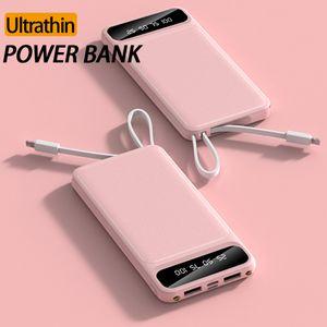 Portable Power Bank 5000mAh 10000mAh Chargeur Powerbank Adaptateur USB rapide pour Smartphones Universal avec Retail Box