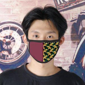 Designer imprimé visage lavable Masque de protection Masques ultraviolets à l'épreuve d'équitation Sports Cyclisme Anti-poussière Imprimer Masques adultes Outdoor Enfants bouche