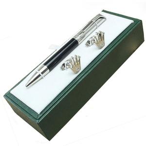 Bolígrafo de lujo de diseño único bolígrafo pluma regalo artículos de papelería de lujo, mancuerna, de regalo verde sistemas de la caja
