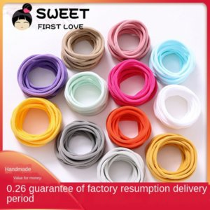 American ins baby rope band super soft baby hair band traceless nylon hair rope
