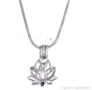 18KGP Pearl Cage cavi pendenti Lotus figura della perla Perline gemma Cage Oyster Medaglioni Ciondoli, fai da te Jelwery Hign qualità