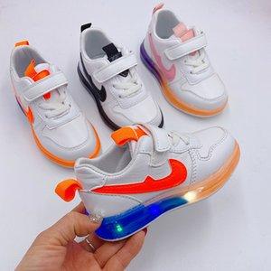 koşu ayakkabıları hafif unisex çocuk spor ayakkabısı yumuşak dibe yanıp sönen Velcro Yeni Çocuk spor ayakkabısı Sihirli çocuk ayakkabıları