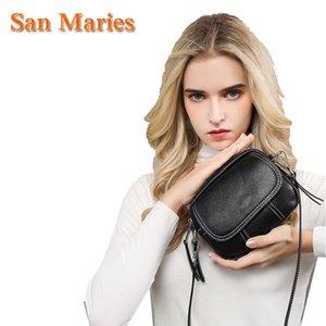 Kadınlar Kadın Cüzdan Totes Çanta Bolsa için San Maries Gerçek Deri Omuz Çantası Kadın Cüzdanlar Moda Crossbody Çanta