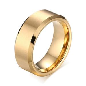 Mens or / noir / or rose couleur bagues de mariage cadeau de noël bijoux 100% carbure de tungstène