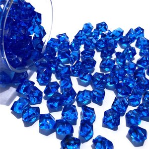Acrylic Plastic Crystal Gem Stone Ice Rocks Table Scatter Home Fish Tank Wedding Decor 8 Colors Art Stone no smell Venue Decor