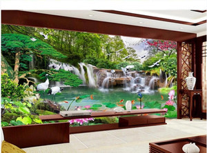 Custom any size photo 3d murals wallpaper for living room beautiful scenery wallpapers watefall wallpapers