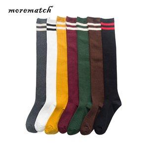 7 Renk Opsiyonel Diz Pamuk çorap Üzeri Morematch 1 Çifti Kadınlar Sıcak Uzun Çorap Çizgili Diz Çorap Uyluk Yüksek