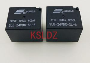 Ücretsiz kargo (10pieces / lot) Orijinal Yeni songle SLB-12VDC-SL-A SLB-24VDC-SL-A SLB-12V-SL-A SLB-24V-SL-A 6PINS 40A Otomotiv Röle