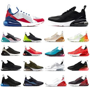 nike AIR MAX 270 SHOES airmax 270s maxes Triple Nero bianco Tiger Scarpe da corsa Atletica Sport all'aria aperta cuscino suola da sole Mens scarpe da ginnastica Zapatos Sneakers