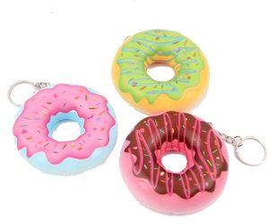 Squishy 8cm Kawaii Soft Keychain Squishy Donut Slow Rebound Squeeze Bun Descompresión Juguete Accesorios para teléfonos Squishies Simulation Toy