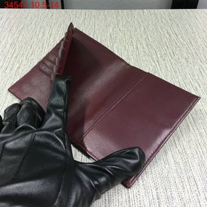 Высокое качество дизайнер новый ягненок икра стеганые лоскут кошелек держатель карты обложка для паспорта с коробкой завод продажи
