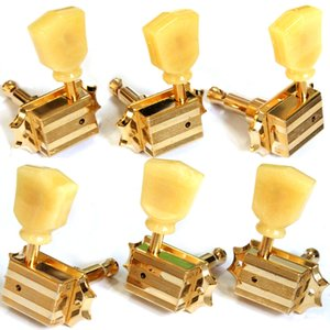 One Set 3R-3L Vintage Deluxe Guitar Machine Heads Tuners In Gold MADE IN TAIWAN
