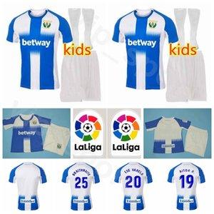 Football Enfants Leganes OSCAR jeunes Jersey Chaussettes Set MESA CARRILLO SILVA AITOR R FEDE VARELA SANTOS EL Zhar Juanfran football Kits chemise