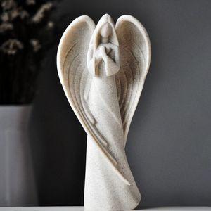[MGT] Europäischer Schutzengel Skulptur Dekoration Wohnzimmer Studie kreative Statue Handwerk retro Engel Wohnaccessoires Gebet