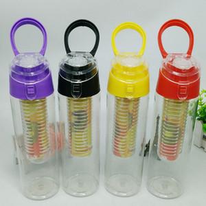800 ml di plastica infusore di frutta bottiglia d'acqua succo di agitatore sport bottiglia di acqua di limone tour escursionismo portatile arrampicata a mano bottiglie da campeggio BH2280 CY