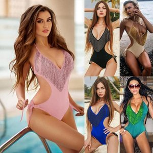 Tassel One Piece Swimsuit Luxury Designer Fancy Bikini Jumpsuits Womens Clothes 19ss Women Swimsuit