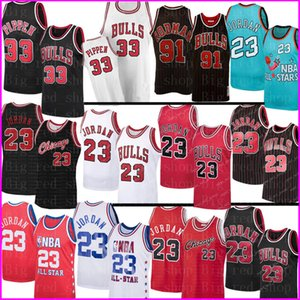 23 Michael NCAA Scottie Pippen 33 Jersey Dennis Rodman 91 Jersey College Basketball Jerseys MJ 1996 Touro Jersey