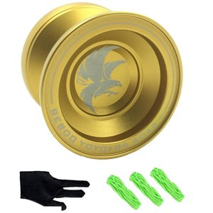 Nuovo oro professionale in lega yo-yo giocattoli cuscinetti ad alta velocità puntelli speciali con guanto cavo yo-yo regalo giocattoli per bambini SH190913