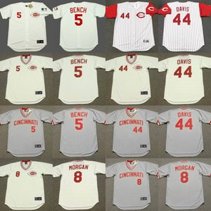 baseball Jersey Chicago 8 Joe Morgan 44 Eric Davis 11 Barry Larkin 5 Johnny Bench 14 Pete Rosa cucita