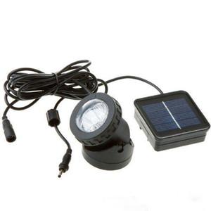 6 LED 방수 수중 태양 광 발전 스포트 라이트 야외 정원 잔디 램프 수영장 수중 조명