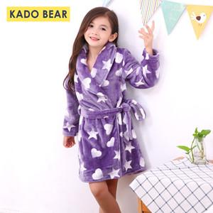 Bébé Filles Flanelle Peignoir Chaud Vêtements De Nuit Enfant Garçon D'Hiver Pyjamas Enfants Pijamas Peignoirs De Bain Enfants Corail Polaire Doux Pyjamas T200420