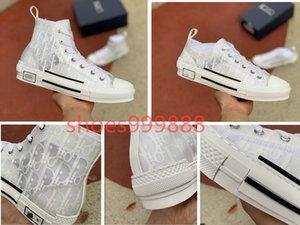 Dior shoes technologie fleur 20SS toile blanche B23 B24 pour hommes en diagonale High Top Sneakers chaussures de créateurs B23 espadrilles mode femmes