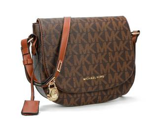 Clásico cuero auténtico Señora mensajero del corazón bolsas de moda 2020 de lujo del patrón de onda 881 taleguilla del bolso de hombro del monedero del bolso de la cadena