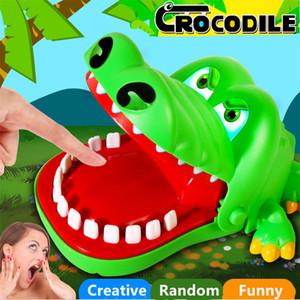 متعة اللعب التمساح طبيب الأسنان بت فنجر الوالدين والطفل مضحك لعبة الإبداعية الأسنان الأسنان لعب للأطفال هدية النكات العملية الكمامات