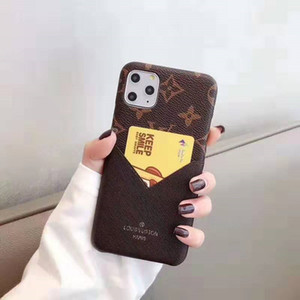 For iPhone 11 Pro Max case Designer Classic Pattern Fashion PU Leather Cover for Iphone X XS MAX XR 8 7 Plus Cases with card bag