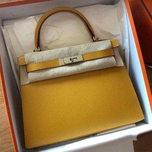 2020 Новый конструктор сумка Kelly сумка неподдельной кожи женщин Роскошные тотализаторов, сумки бренда, разработанный кошелек, бумажник, сделанный телячьей кожи ягненка быстрая доставка