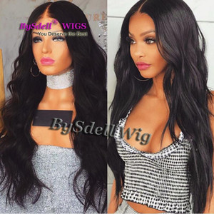Vendita calda sintetica Black Lace Parrucca anteriore Premium capelli naturali onda allentata glueless anteriore parrucche per donne nere
